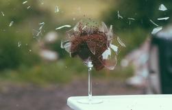 Broken Explosion Glass