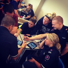 Students at Fanshawe College Paramedic Program utilizing Nearpod in the classroom.